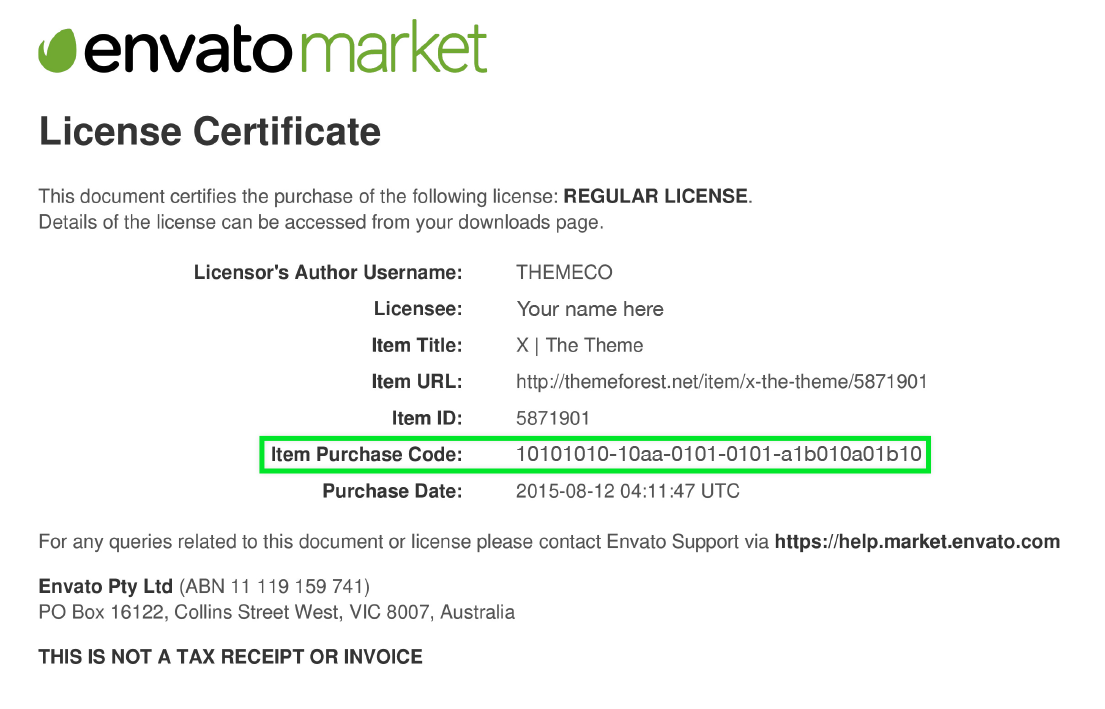Where Is My Purchase Code Envato Market Help Center